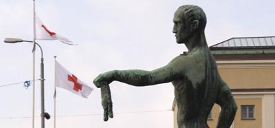 La statue et son slip