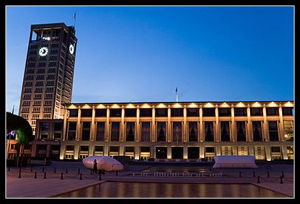 Mairie du Havre de nuit