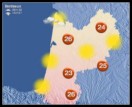Meteo Bordeaux