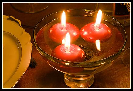Bougies réveillon de Noël