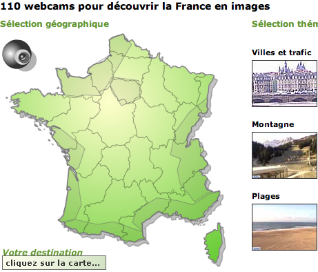 Webcams des pages blanches
