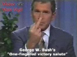 George W Bush nous fait un doigt