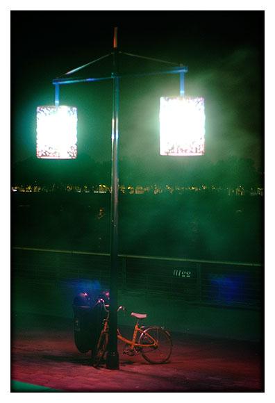 Vélo lampadaire