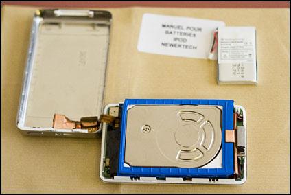 Changement batterie iPod